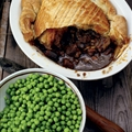 Steak, Guiness & Cheese Pie