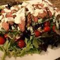 Steak and Tomato Salad with Horseradish Dressing
