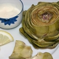 Steamed Artichoke with Lemon-Shallot Dip