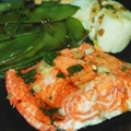 Steamed Fish and Scallops with Snow Peas