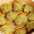Steamed Spinach Dumplings(Paneer Palak Koftas)