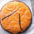 Sticky orange and vanilla upside down cake