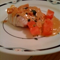 Striped Bass (Rockfish) with Tomato Basil Cream Sauce