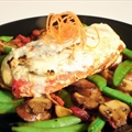 Stuffed Chicken w/ Roasted Red Peppers & Herbed Goat Cheese