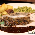 Stuffed Pork Tenderloin with Marsala-Port Sauce