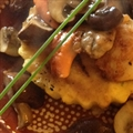 Stus Scallops on Polenta With Wild Mushrooms