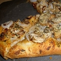 Sun-dried Tomato, Veggie, and Goat Cheese Pizza