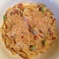 Sundried Tomatoes with Pine Nuts and Avocado Alfredo