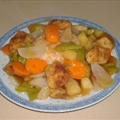Sweet And Sour Chicken On Steamed Rice