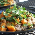 Sweet Potato Curry With Spinach and Chickpeas
