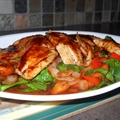 Sweet & Spicy Tilapia with Baby Spinach