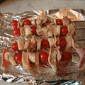 Swordfish, Bacon, And Cherry Tomato Kebabs