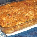 Tex-mex Chicken Spaghetti Casserole