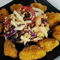 Thai Peanut Slaw with Popcorn Chicken