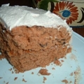 Tomato Soup Spice Cake with Cinnamon Buttercream Frosting