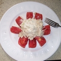 Tomato Stuffed with Chicken Salad