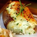 Twice-Baked Spuds with Goat Cheese