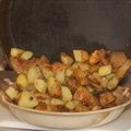 Twice-cooked Potatoes with Roasted Garlic