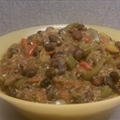 Vegan Black Bean Chili with Bell Peppers