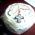 Waffle Torte Rosary Cake - No Bake!