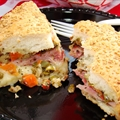 Warm grilled Muffoletta
