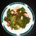Warm Spinach Salad with Bacon Thyme Dressing
