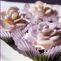 White Chocolate Plastic Roses