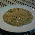 White Onion And Cheese Risotto