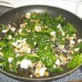 Wilted Spinach with Roasted Garlic and Walnuts
