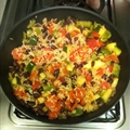 Zucchini, Black Bean and Rice Skillet