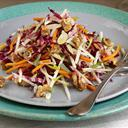 Jicama, Carrot And Apple Slaw With California Walnuts