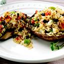 Mediterranean Stuffed Portobello Mushrooms