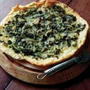 Onion and Kale Pizza