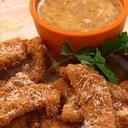 Pecan-Parmesan Chicken Tenders with Honey-Mustard Dipping Sauce