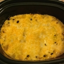 Slow Cooker Green Chile-Chicken Enchilada Casserole