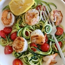 Zucchini Noodles With Lemon-Garlic Spicy Shrimp