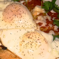 Two Fried Eggs with Apples