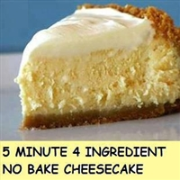 4 ingredient no bake cheesecake