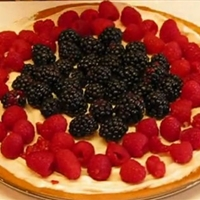 4th Of July Blackberry Raspberry Fruit Pizza