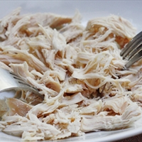 All Purpose Crockpot Shredded Chicken