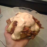 Apple Brown Betty with Brown Sugar Whipped Cream