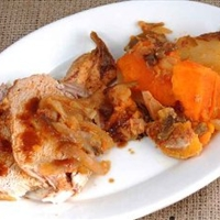 Apple-Glazed Roast Pork- Crockpot