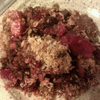 Apple, Raspberry and Blueberry Crumble