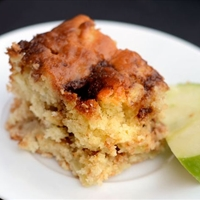 Apple Yogurt Cake with Cinnamon-Sugar Streak