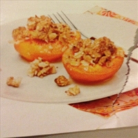 Apriccots with Almond Crumble
