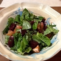 Baby Spinach and Roasted Beet Salad