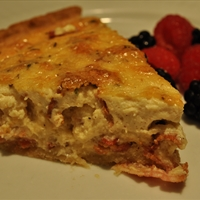 Bacon and Double Cheese Quiche