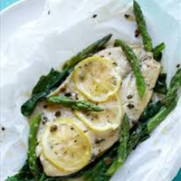 Baked Fish and Asparagus