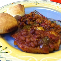 Baked Pork Chops with Beans