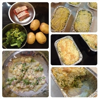 Baked Potato Broccoli and Fish